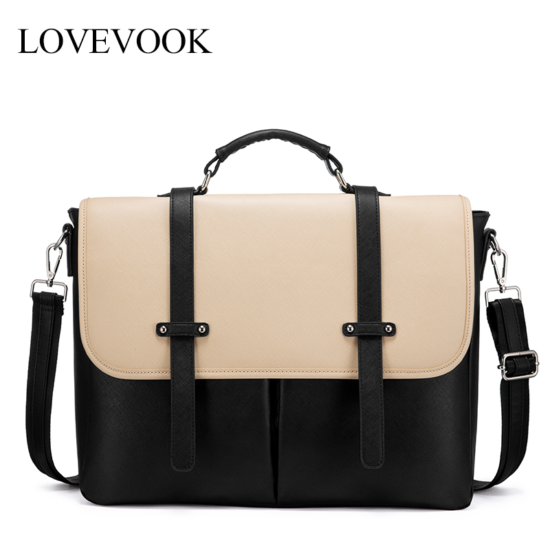 Lovevook Women Laptop Bags For 15.6 Inch Office Bags For Ladies Luxury Handbags Crossbody Shoulder Bag For Work/school Satchel