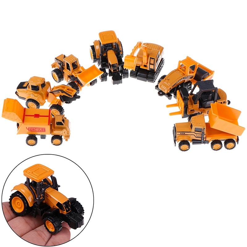 Мини Сплав инженерный автомобиль трактор игрушка самосвал модели автомобилей для детей мальчик подарок классическая игрушка