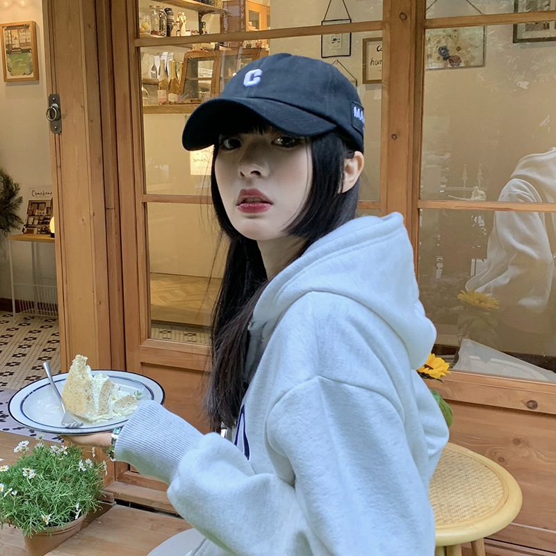 Кепка женская с алфавитом, мягкая бейсболка в японском стиле, Повседневная Солнцезащитная шапка в Корейском стиле