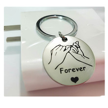 New stainless steel couple keychain Forever pull hook models can be customized пальто forever new forever new mp002xw1gqmp