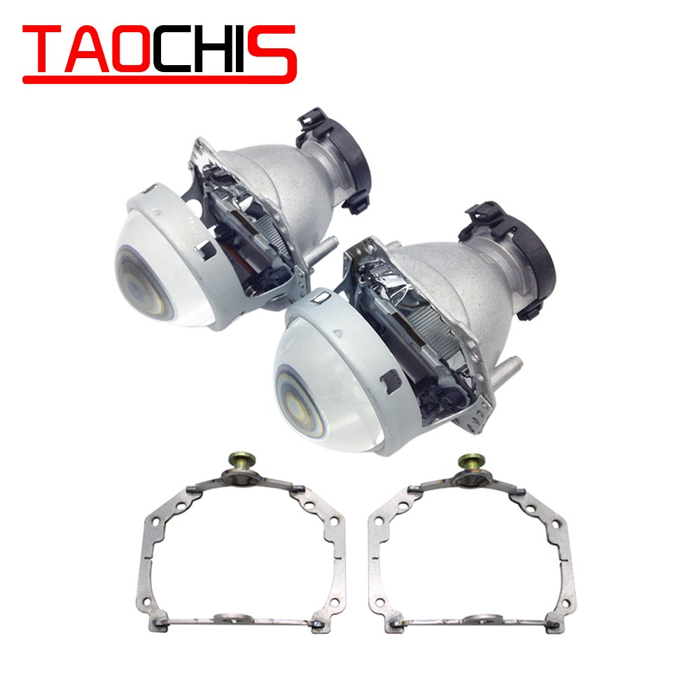 TAOCHIS Car Styling frame adapter Hella 3r G5 Projector lens retrofit for VOLKSWAGEN PASSAT B6 B7 EOS GOLF VII BMW 1 X1