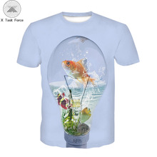 Summer 3D Printed Tee Cool Men 3D Fish T-Shirt Hobby Carp 3D Tshirt Outfits Men Cute Top Hipster Shirts Oversize O-neck Top Tees men contrast neck tee