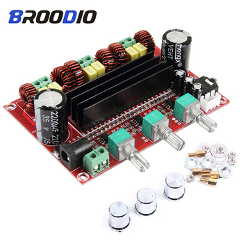 2.1 Channel High Power Digital Audio TPA3116 Amplifier Board 2*80W+100W TPA3116D2 Subwoofer Amplifiers amplificador Module  Amp aiyima tpa3116 subwoofer bluetooth amplifier hifi tpa3116d2 2 1 channel digital audio amplifiers 50w 2 100w dc12 24v