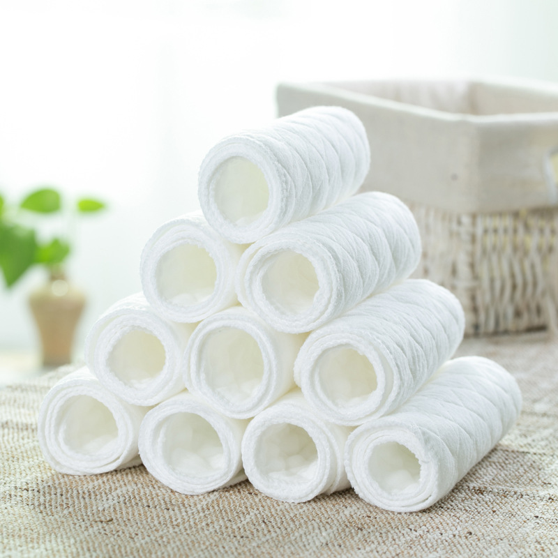 5 Pcs Reusable Baby Diapers Newborn Baby Cloth Diaper Shirts Insert 3 Layers Cotton Hot Sale