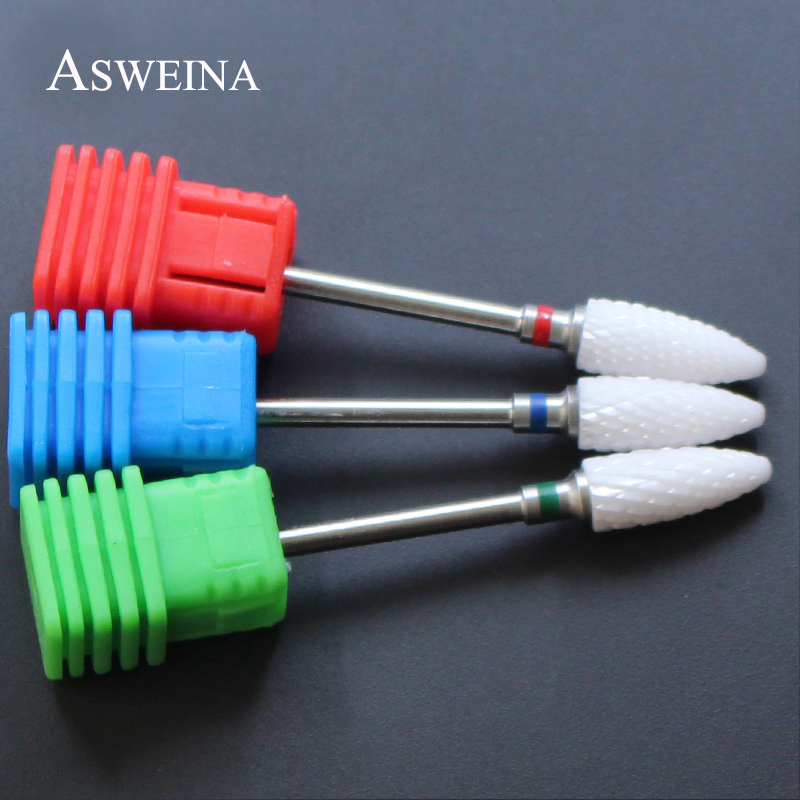 Ceramic Nozzle Nail Art Drill Bit Mill Cutter For Nail Electric Drill Manicure Machine Device Accessory Remove Acrylic Polish