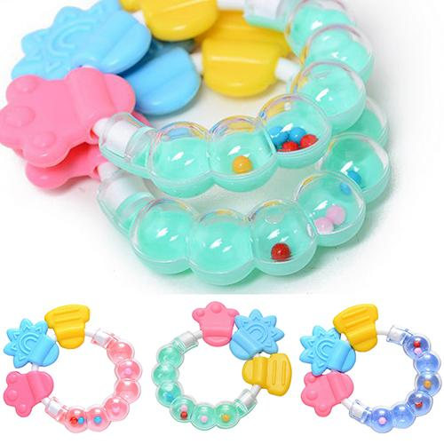 Bell Ring Baby Kids with Beautiful Gifts Toys Rattles Pacifier Molar Tooth-Care Safety