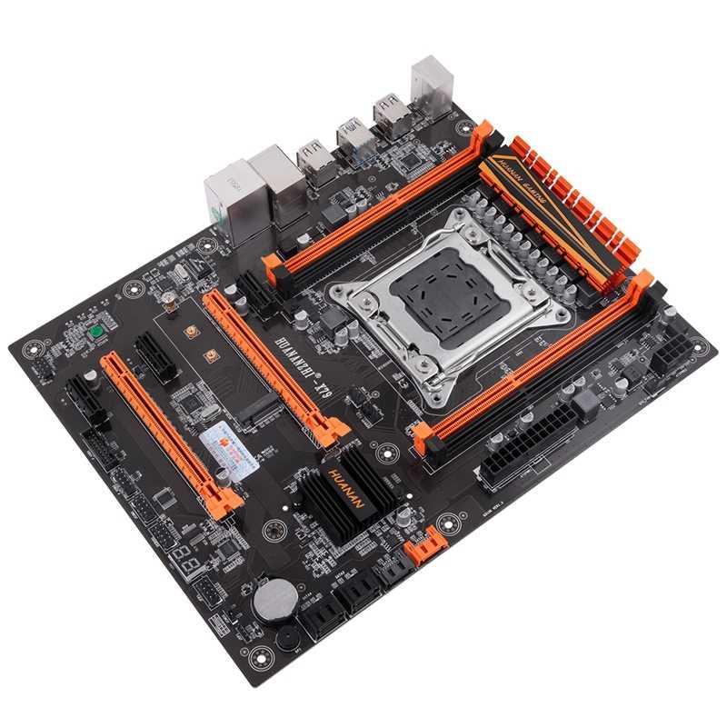 HUANANZHI ديلوكس X79 برو الألعاب اللوحة إنتل LGA 2011 ATX دعم 4X16 GB 64GB الذاكرة PCI-E X16 7.1 الصوت المسار التراشق