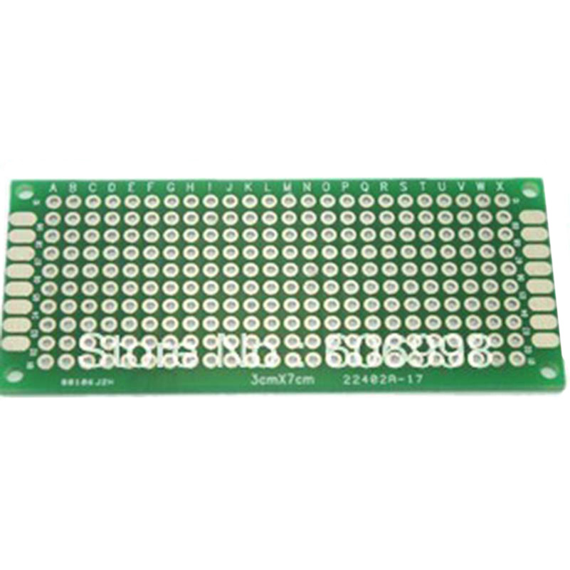 10pcs/lot 3x7cm Double Side Prototype PCB Universal Printed Circuit Board DIY Experimental Plate