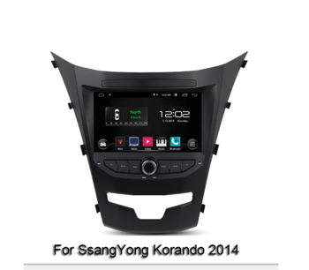 Android 10 Car multimidia player map GPS navi Wifi radio RDS Bluetooth 5.0 for SsangYong Korando 2014 -2015 Carplay DSP WiFi image