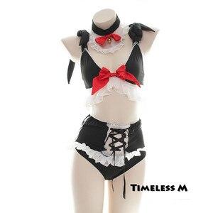 Image 4 - Women Maid Cosplay kawaii Apron Room Servant Lolita Costume Babydoll Dress Uniform Erotic Role Play Cute Live Show Sexy Lingerie