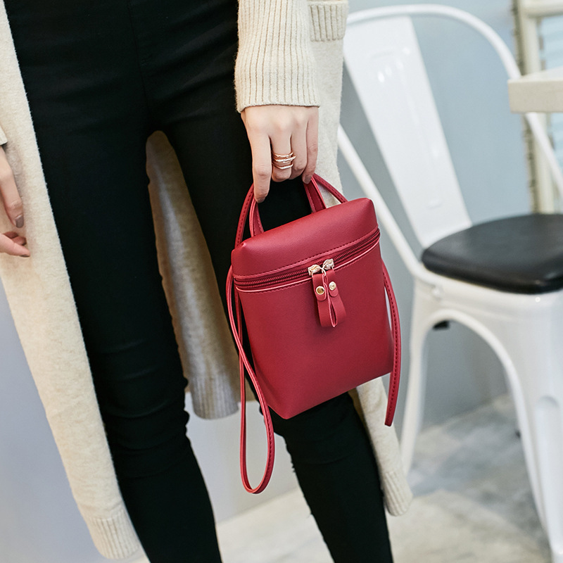 2018 Square Sling Bag Small Bag Casual New Style Fashion Korean-style Glorious Crossbody Bag WOMEN'S Bag Simple Versatile