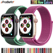 Banda para Apple Watch Series 3/2/1 38MM 42MM Nylon suave transpirable correa de repuesto deportivo bucle para serie iwatch 4 5 40MM 44MM(China)