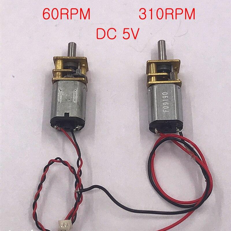 DC 3V 5V 6V 60 70 310RPM Micro Mini N20 Gear Motor Slow Speed  Full Metal Gearbox Gear Reducer Motor DIY Robot Car