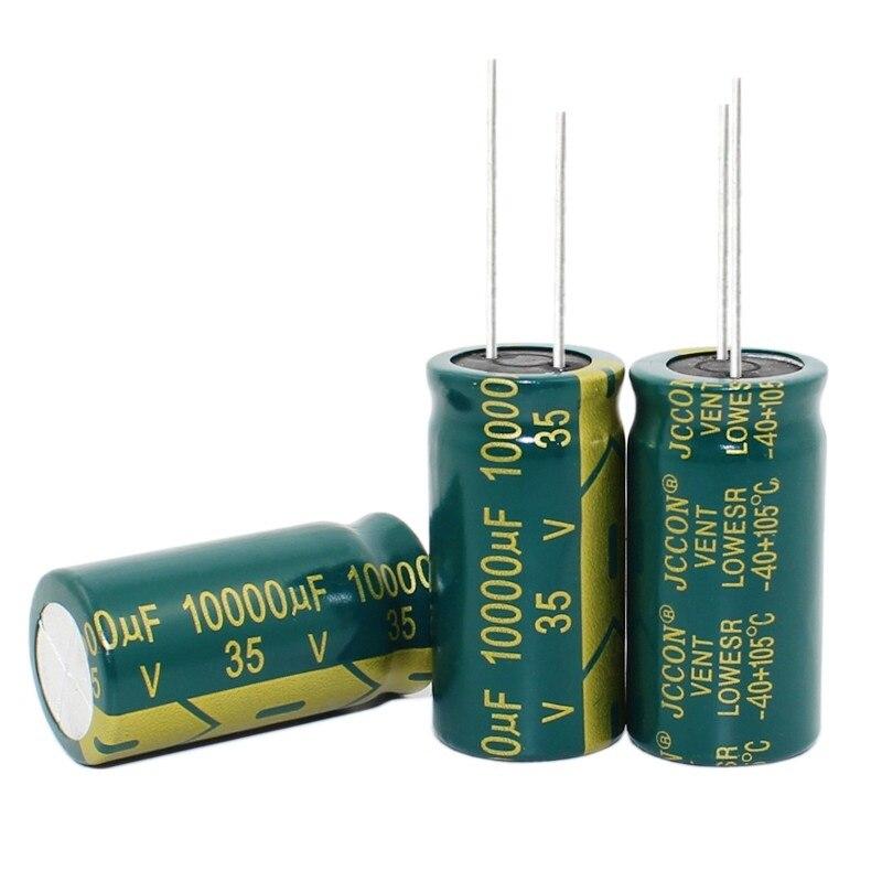 10 шт. -- 100 шт./лот 35 в 10000 мкФ 18*35 мм высокочастотный алюминиевый электролитический конденсатор 10000 мкФ 35 в