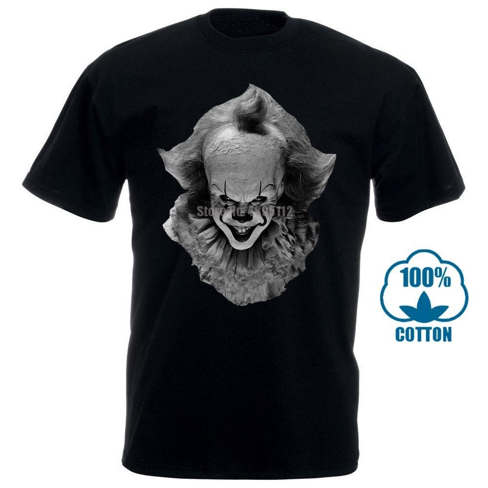 100% Cotton Straight O Neck Short Sleeve Xqste Clown Pennywise It Halloween Horror Unisex T Shirt