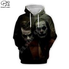 Men women New Movie haha Joker brother trippy Hoodies 3D Print Funny Sweatshirt zipper tracksuit pullover Autumn Harajuku tshirt