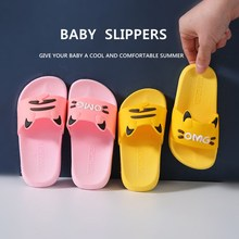 Kids Slippers Shoes Bathroom Toddler Girls Baby Boys Cartoon Indoor Sole Summer for Anti-Skidding