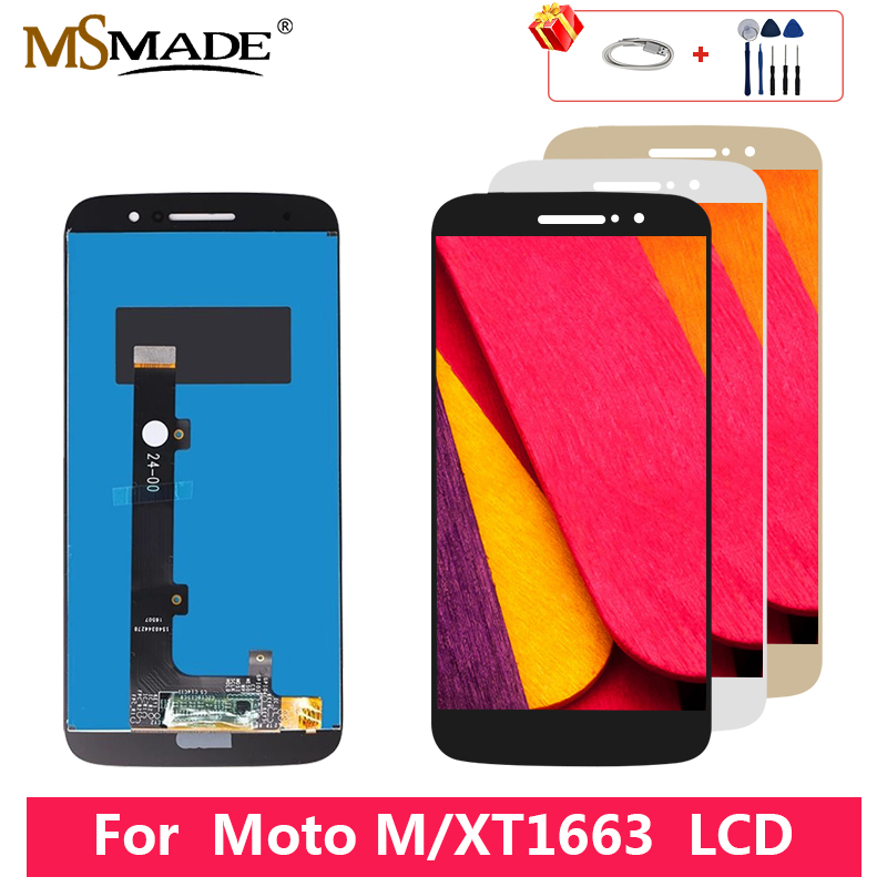 For Moto M <font><b>XT1662</b></font> XT1663 <font><b>LCD</b></font> Display Touch Screen Digitizer Replacement Parts For XT1663 Display 100% Tested 5.5