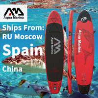 2019 Aqua Marina MONSTER SUP Surfing Board 365*82*15cm Stand Up Surfboard Inflatable Paddle Boards SUP Paddle board Water Sport