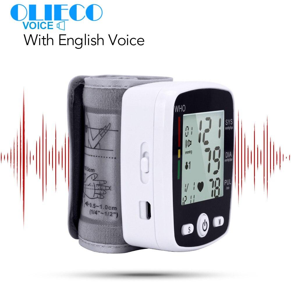 OLIECO Automatische Voice Pols Digitale Bloeddrukmeter Tonometer Meter USB Charge Pols OLI-W355 Duitsland Chip Lcd-scherm
