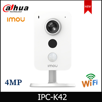 Dahua Imou Cube Wifi Camera IPC-K42 4MP IP Two-way Talk External Alarm Interface Support PIR and Sound Detection Wireless Camera