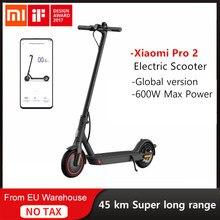 Xiaomi mijia scooter elétrico pro 2 inteligente e-scooter dobrável recarregável skate hoverboard longboard 45km adulto