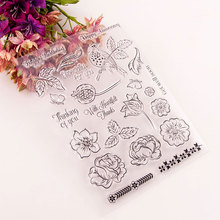Flowers Set Stamps Seal for DIY Scrapbooking Card Clear Rubber Stamps Making Album Photo Crafts Handmade Decoration New Stamps azsg lovely cat clear stamps seal for diy scrapbooking card making photo album decoration supplies
