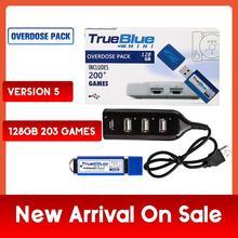 203 jeux True Blue Mini surdose Pack pour PlayStation Classic (128GB) accessoires 2019 ventes en précommande jeux 2 joueurs chauds