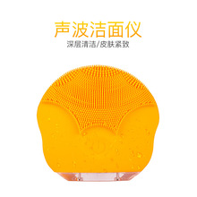 Silicone facial cleanser electric facial cleanser beauty guide Mini Waterproof wave pore cleaner facial cleanser gold atoms