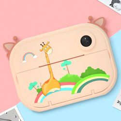 Neue Cartoon Tragbare Kinder Mini Digital Kamera Automatisch Druck Foto 2,4 zoll High Definition Screen Kind Bildung Spielzeug