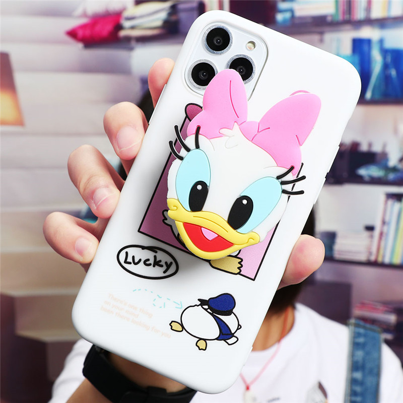 Cute Cartoon Print Design Made Of Soft TPU Material Standing Case For iPhone Mobiles 1