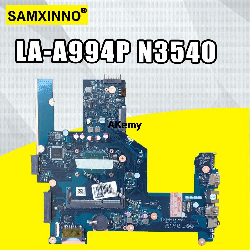 High Quality For 15-R 15T-R 15-S 788287-001 788287-501 Laptop Motherboard ZSO50 LA-A994P SR1YW N3540 CPU 100% Tested OK