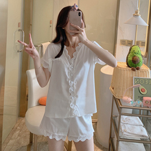womens satin lace pyjama set babydolls Pure Ladies Hom Suit