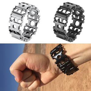 Image 5 - EDC 29 In 1 Multi function Tread Bracelet Tool Wearable Strap Screwdriver Outdoor Survival Emergency Kit Multi Wtach Chain