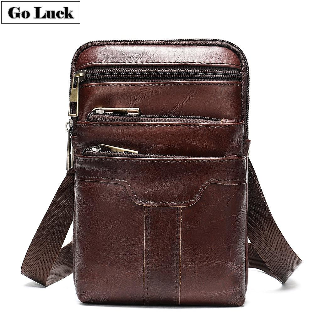 GO LCUK Brand Genuine Leather font b Men s b font font b Shoulder b font