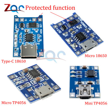 type-c Micro Mini USB 5V 1A 18650 TP4056 Li-ion Lithium Battery Charger Module Charging Board Connector W/ Protection Functions image