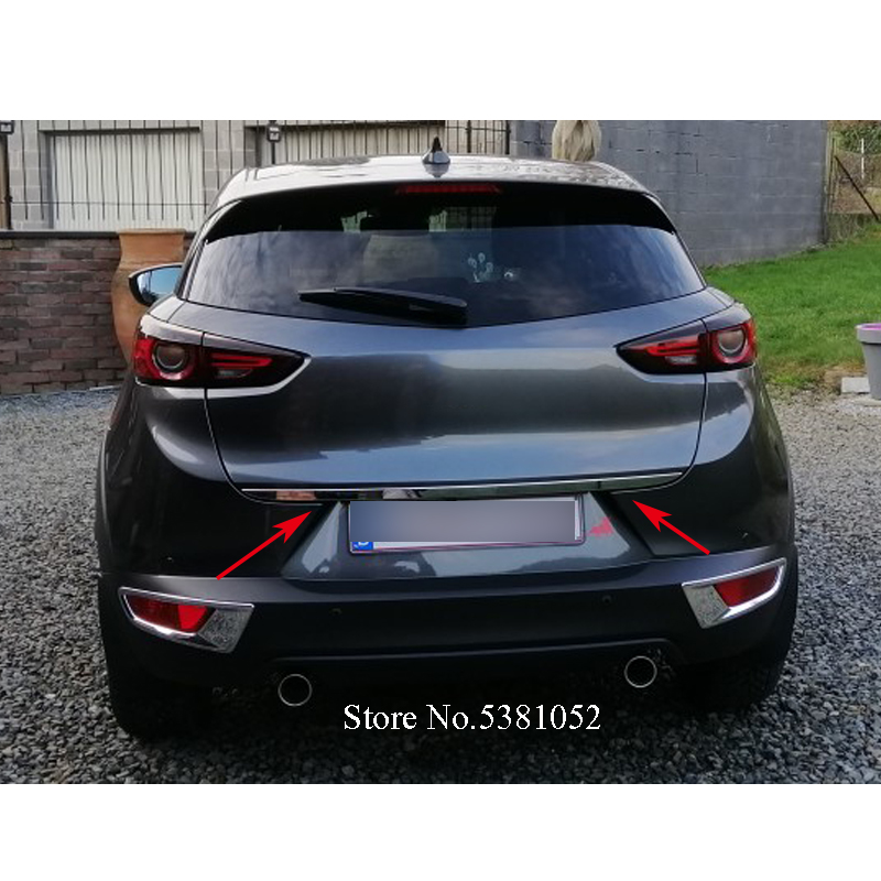 Stainless Steel Car Styling Back Door Tailgate Trim Strip 1Pcs For Mazda CX-3 CX3 2014-2018 Car Accessories(China)
