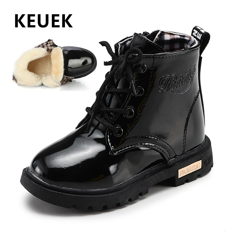 Autumn Children Boots PU Leather Waterproof Fashion Boots Girls Boys Baby Shoes Winter Snow Boots Kids Ankle Boots 020