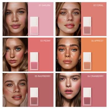 STAGENIUS Facial Blush 6 Colors Makeup Liquid Blush Waterproof Long Lasting Natural Face Cheek Blush Cream недорого