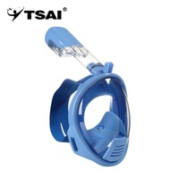 TSAI Anti Fog Full Face Safety Mask Swimming Scuba Watersport Underwater Diving Snorkeling Full dry Goggles Mask For Kids