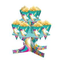 Novo unicórnio festa suprimentos conjunto de talheres unicórnio toalha de mesa copo de papel guardanapos banner papel palha casamento decorações do chuveiro do bebê