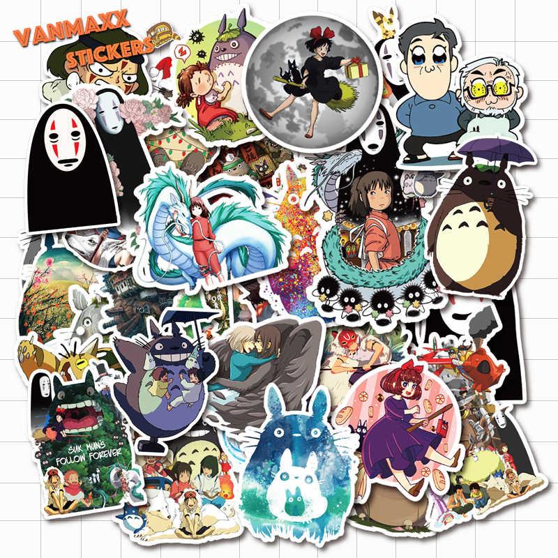 50X Hayao Miyazaki Anime Stickers for Laptop Suitcase Guitar Fridge Bicycle Car