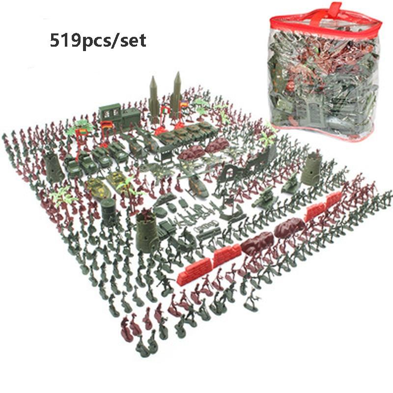 Набор строительных блоков для солдат, кукла, экшн-фигурки, модель песочного стола, пластиковые коллективные модели, игрушки для детей, военн...