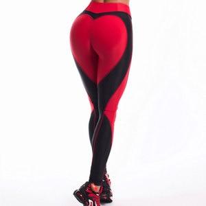 Image 2 - Mallas Push Up sexys para mujer, de cintura alta Leggings largos, Leggings de Fitness, entrenamiento