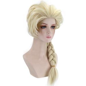 Image 3 - VICWIG קוספליי פאות 26 אינץ זהב קוקו סינטטי צמת שיער לנשים גריי פאה עמיד בחום עלה נטו