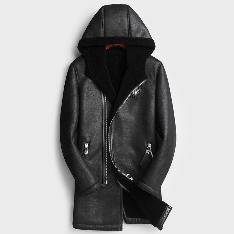 Real Fur Coat Men Sheep Shearing Winter Coat Natural Wool Fur Jacket for Mens Clothing Chaqueta Cuero Hombre YR-178012 YY773