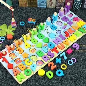 Image 3 - Juguetes Educativos de madera Montessori para niños, rompecabezas cognitivo con forma geométrica, juguetes educativos para edades tempranas
