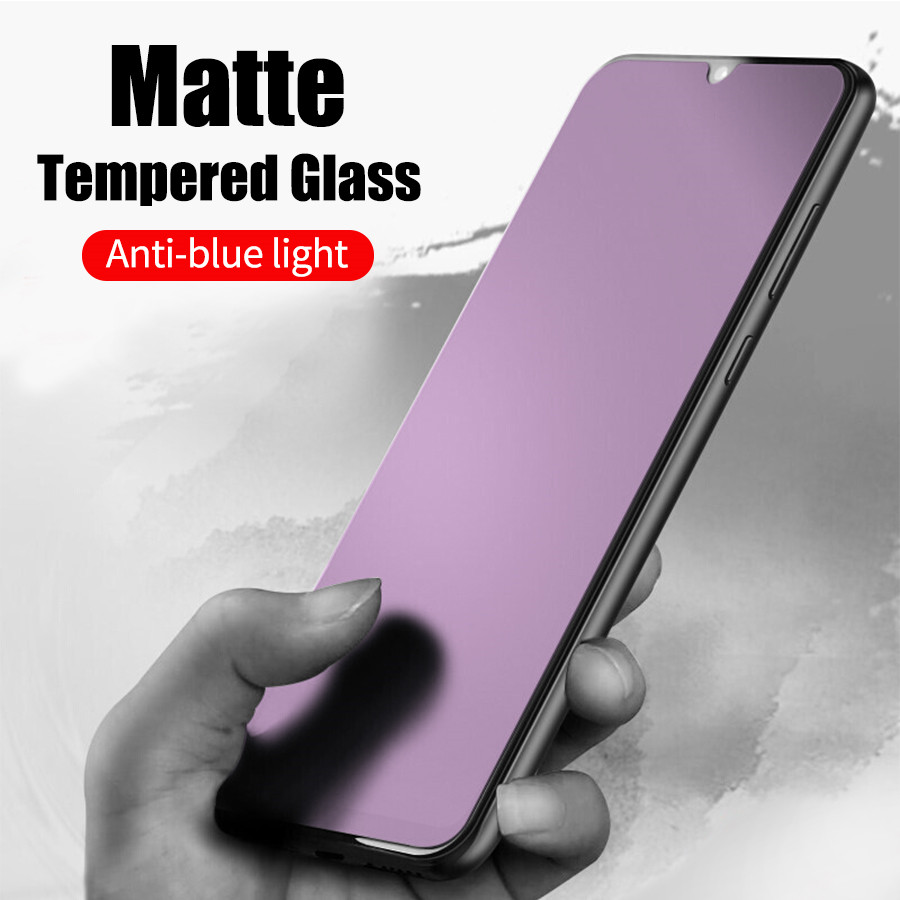 Anti Blue Light Matte Tempered Glass For Huawei Honor 20 Pro 9X 8X View 20 P20 Screen Protector Frosted Glass Protective Film