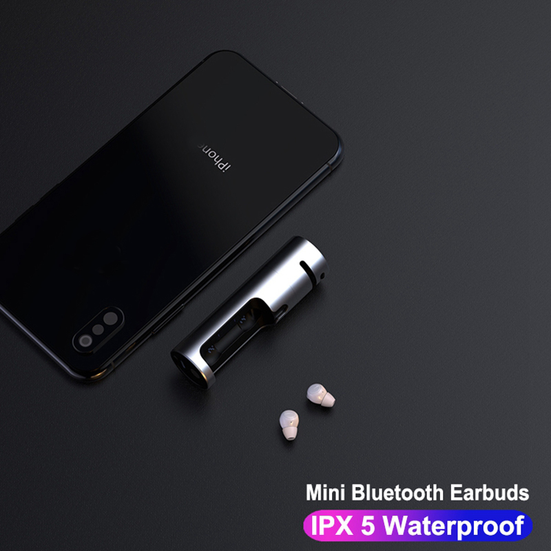 JHUR <font><b>TWS</b></font> <font><b>Earbuds</b></font> Wireless Mini Bluetooth Earphones Touch Control Waterproof Stereo Sound for Smart Phone With Charging Box image