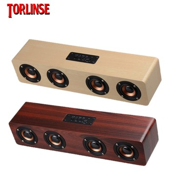 Graffiti  USB wooden wireless bluetooth Speakers Computer Speakers Bass Stereo Music Player Subwoofer Sound Box For PC Phones